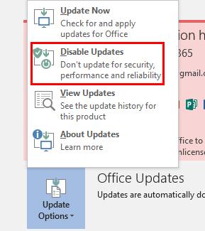 Mematikan Fitur Auto Update Ms.Office